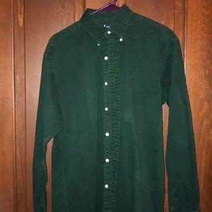 Men's Forest Green Ralph Lauren Button Up Shirt